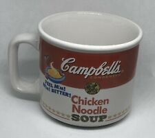 Campbell's Soup Collectible Mug Cup Bowl 1997 Chicken Noodle by Westwood Warhol