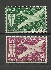 MARTINIQUE 1945. Série complète 2  timbres neufs**. Air Mail  (4363)
