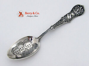 Louisiana Souvenir Spoon 3 Black Boys Bowl Watson 1900 Sterling Silver
