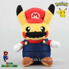 Pokemon Super MARIO PIKACHU Plush Doll Soft Stuffed Toy 9'' Cosplay NWT