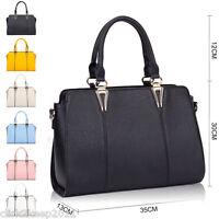 Womens Ladies Designer Celebrity Tote Bag Leather Large Shoulder Handbag Bag