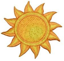 Yellow and Orange Sun Applique Patch (Iron on)