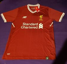 LIVERPOOL soccer Shirt Jersey HOME New Balance standard chartered small s