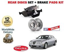 FOR JAGUAR S TYPE 2.7D V6 2006-2008 NEW REAR BRAKE DISC SET AND DISC PADS KIT