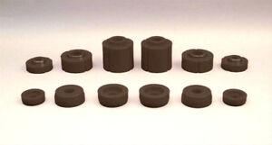 Prothane 6-108BL Body Mount Bushings Polyurethane, Black, Ford, Set of 12