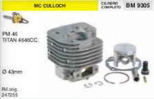 247255 CILINDRO E PISTONE MOTOSEGA McCULLOCH PM46 TITAN 46 46cc Ø 43 mm