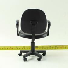 1/6 Black Computer Stool Model Chair Swivel Chair Office Sence Accessories