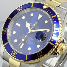 ROLEX BLUE SUBMARINER 16613 SUBMARINER STEEL 18K YELLOW GOLD TWO TONE