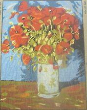 Vase de coquelicots Van Gogh Tapisserie toile broderie collection d'ART