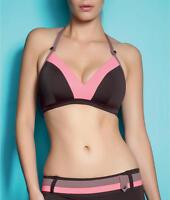 Freya Samba Retro Triangle Soft Cup Bikini Top Brown Pink 3173 Select Size NEW