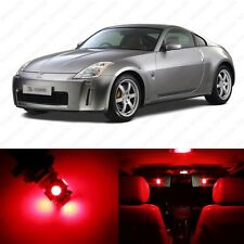 5 x Brilliant Red LED Interior Light Package For 2003 - 2008 Nissan 350Z
