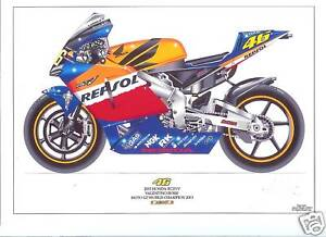 Valentino Rossi ltd edition art print 2003 Honda RC21V