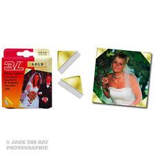 250 X Oro Foto esquinas, ácido libre Adhesivo Monta. archivo Caja Fuerte.