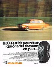 PUBLICITE  1972   MICHELIN   pneu XAS