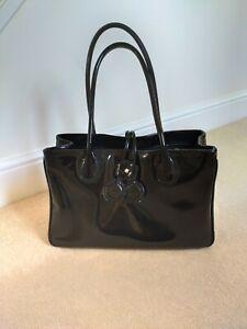 LK Bennett Black Patent Leather Handbag