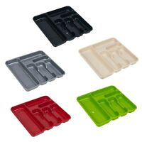 Large 6 Compartment Plastic Cutlery Tray Kitchen Drawer Organiser Holder Storage