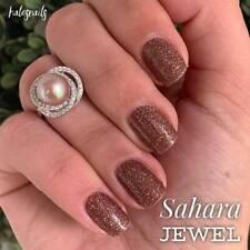 Color Street SAHARA JEWEL Nail Polish Strips NEW Multi-Glitter On Earthy Brown