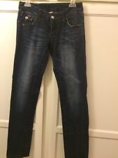 True Religion Thick Stitch With Crystal Buttons  Size 28