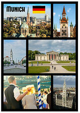 MUNICH, GERMANY - SOUVENIR NOVELTY FRIDGE MAGNET - SIGHTS / FLAGS - GIFT - NEW