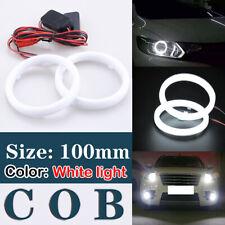 100mm Universal DRL COB LED Angel Eyes Halo Ring Fog Headlight Lamp Light White