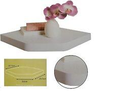 Contemporary Floating Corner Shelves Shelf White gloss Effect NEW