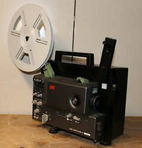 Elmo GS-800 super8 8mm stereo sound home movie film projector, working new belt