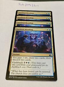 Magic the Gathering MTG Faithful Mending x4 Uncommon Cards NM/M
