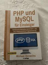 PHP und MySQL für Einsteiger Michael Bonacina Taschenbuch Deutsch 2019 NEU