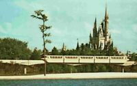 Walt Disney World Florida FL Monorail Magic Kingdom 1970's Castle Postcard