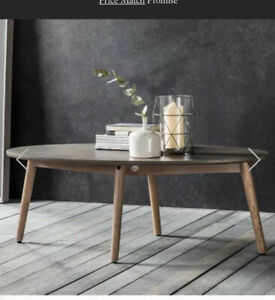 NEW Bergen Hudson Gallery wooden coffee table