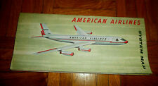 VINTAGE AMERICAN AIRLINES SYSTEM MAP