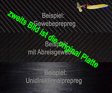 3,5 mm CFK 29,5cm x 13,5cm Carbon Kohlefaser Platte (886) Unidirektional Prepreg