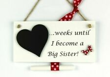 3mm MDF Wooden Craft Blank Chalkboard Weeks Until Our Wedding With Heart Plaque