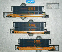 KATO 1066175 N  MAXI-IV 3 Well Car Set w 6 CSX Containers TTX 724794 106-6175