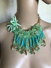 Pale Mint Green 3D Flower Necklace Fashion Jewellery Accessories