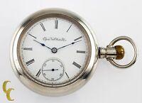 Silveroid Elgin Antique Open Face Pocket Watch Grade 96 Size 18 7 Jewel