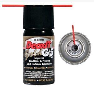 Bigger! DeoxIT G Series Gold Mini Spray Contact Cleaner Deoxidizer Enhancer Lube