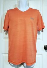 NEW WITH TAGS Under Armour UA Tech V-Neck Orange S/S T-Shirt Men's Sz Small