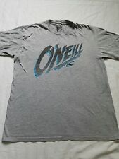 Men's O'Neill Surfer/Skater T-Shirt, Gray Graphic Tee, Size Large