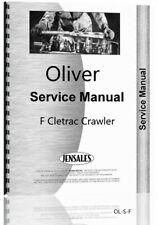 Oliver F Cletrac Crawler Service Repair Manual