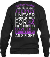 Printed Choose Life & Fight - Fibromyalgia Is A Gildan Long Sleeve Tee T-Shirt