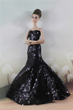 Fashion Party  Black Bead Fishtail Skirt  Mermaid DressGown For 11 inch. Doll
