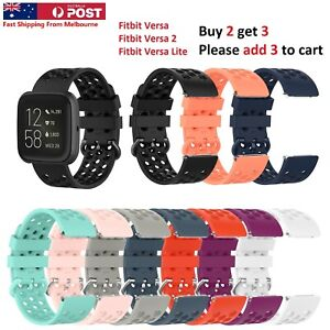Fitbit Versa 1 2 Lite Sports Band Silicone Replacement Strap Wristband
