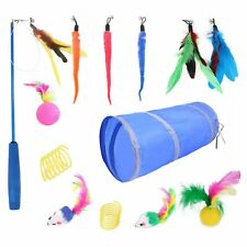 New listing 14Pcs Cat Toy Kitten Variety Pack Set With Feather Mouse Tunnel For Pet Kitty C0