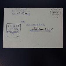 ALLEMAGNE LETTRE FELDPOST BRIEF 01.04.1942 -> ORTSPOLIZEIBEHÖRDE KARLSRUHE