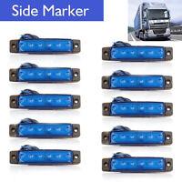 10Pcs Azul 12v 6 Led Front Side Marker indicadores Luces Lámpara Camión Remolque