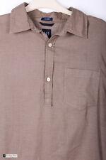 Espacio Men Manga Larga Ajuste Relajado Camisa Informal Marrón Talla M