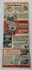 1952 Gillette cartoon ad ~ boxer ROBERT VILLEMAIN