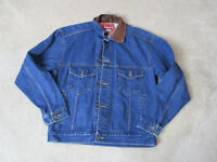 VINTAGE Marlboro Jean Jacket Size Adult Small Blue Denim Coat Button Up Men 90s