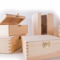 SELECTION of 150 Small&Medium Wooden Boxes/Memory Chest Crate/Craft Storage Box